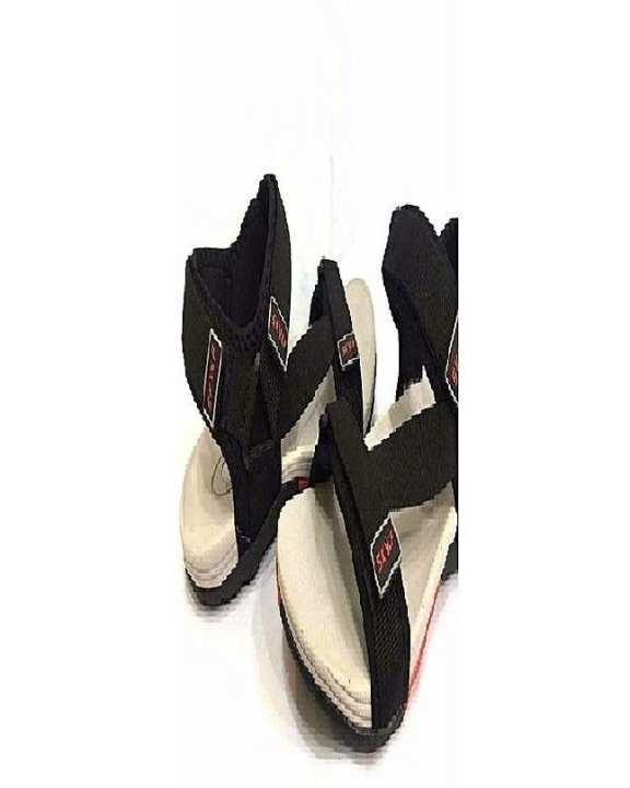 Black Canvas Sports Casual Sandal For Men