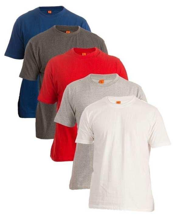 Pack of 5 - Multicolour Cotton T-Shirt For Men