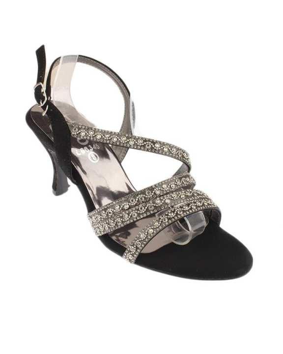 Rubber Sole Stylo Black High Heels For Women