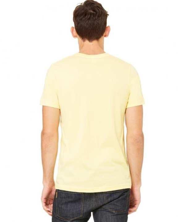 Plain R-neck Short Sleeve T-Shirt For Men - Beige