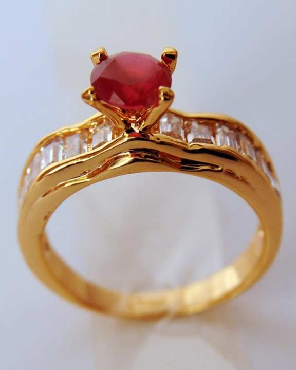 1k Gold Plated Ruby Ring