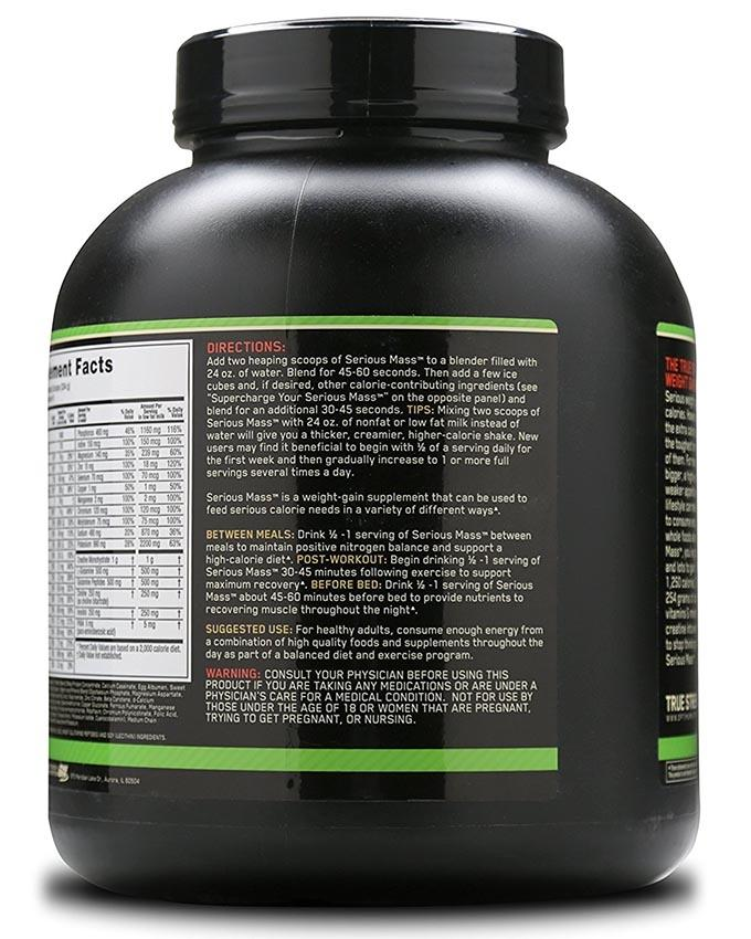 Serious Mass High Protein - 6Lb - Chocolate Flavor
