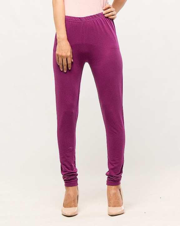 Purple Slub Legging for Women