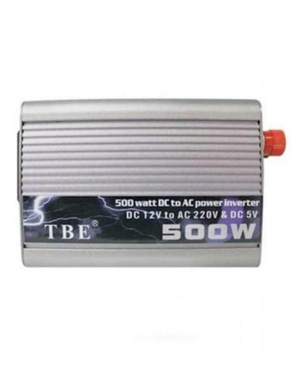 DC 12V to AC 220V Power Inverter - 500W - Silver