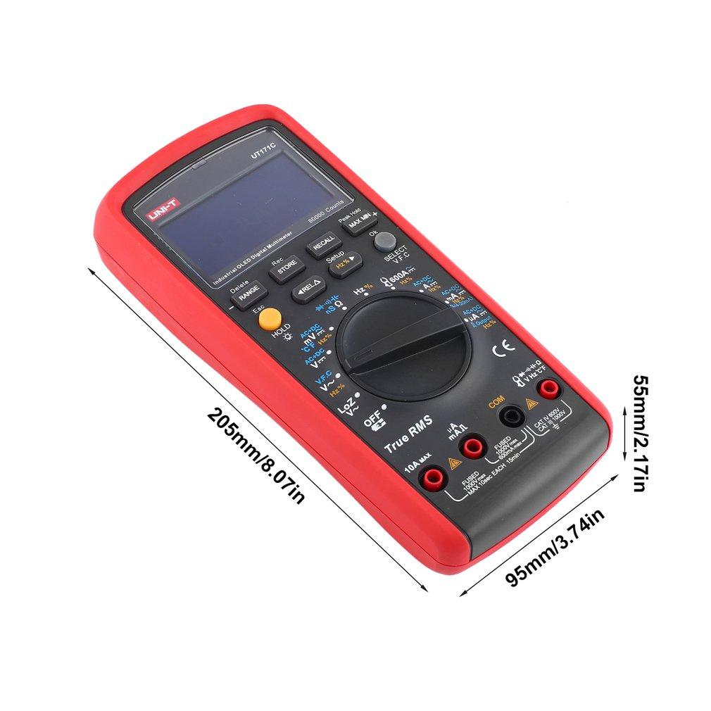 Digital Multimeter Unit Dc Ac Volt Amp Ohm Diode Mini Multitester And Meter With Temperature Control Multifunctional Can Measure Voltage Current Resistance Capacitancefrequencytemperaturediodecontinuityduty Ratio