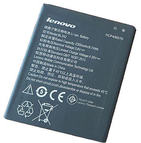 BL242 Battery For Lenovo A6000 A3860 A3580 A3900 A6010 A6010 Plus 3 8V  2300mAh-Black
