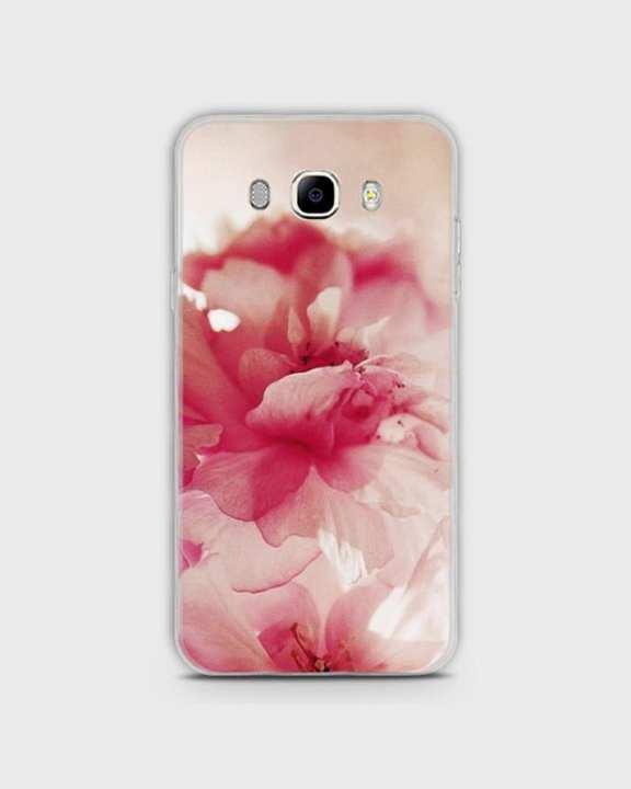 Cover For Samsung J510, J5 2016 Hybrid Soft Pink Flower Print -1cover2816