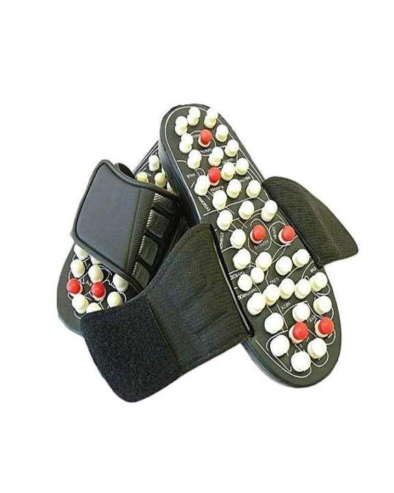 Black Foot Massager Slippers