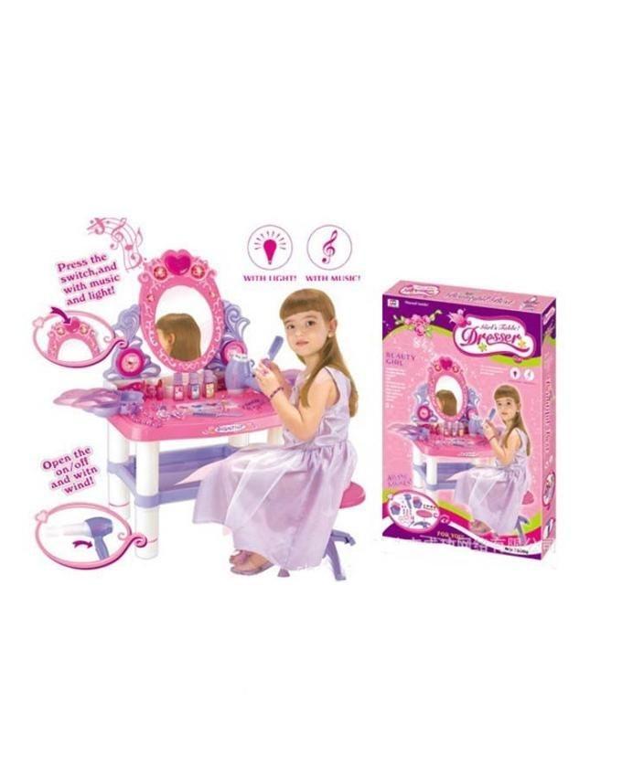 Beauty Dresser Vanity Makeup Play Set - Pink