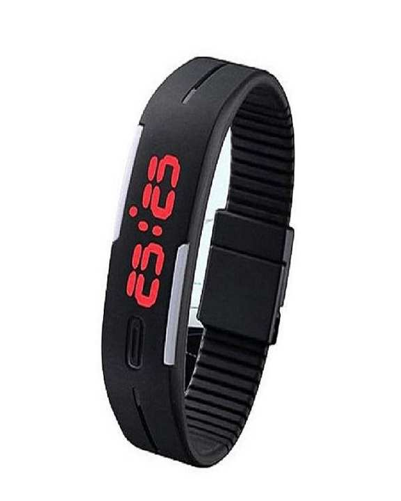Sherooz Collection Led Sports Watch - Black