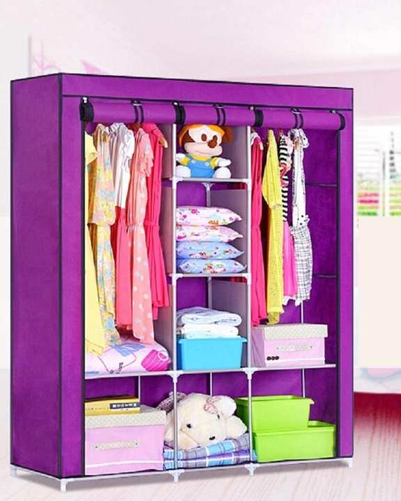Canvas Wardrobe With Protective Cover