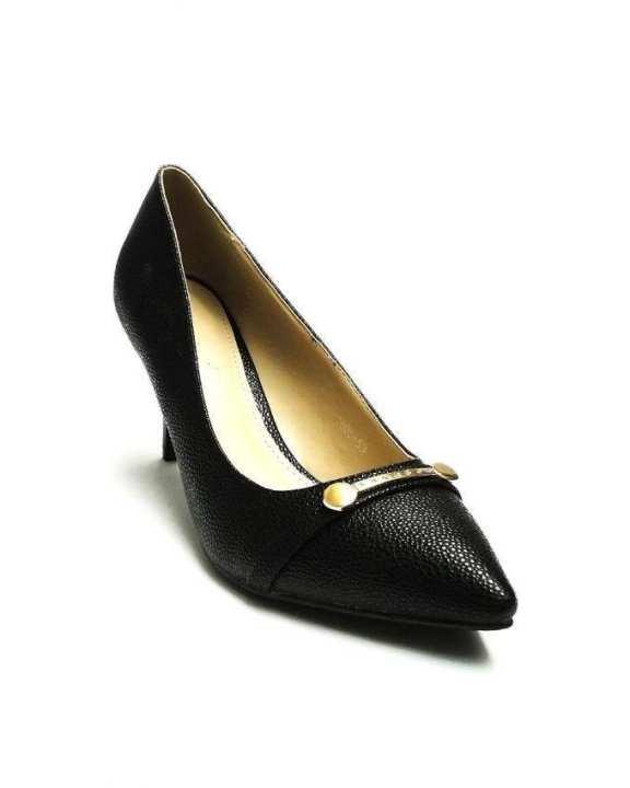 Black Queen Women Stylish Kitten Heel Pumps - European Size