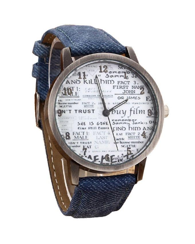 Blue Leather Dial Analog Watch for Women