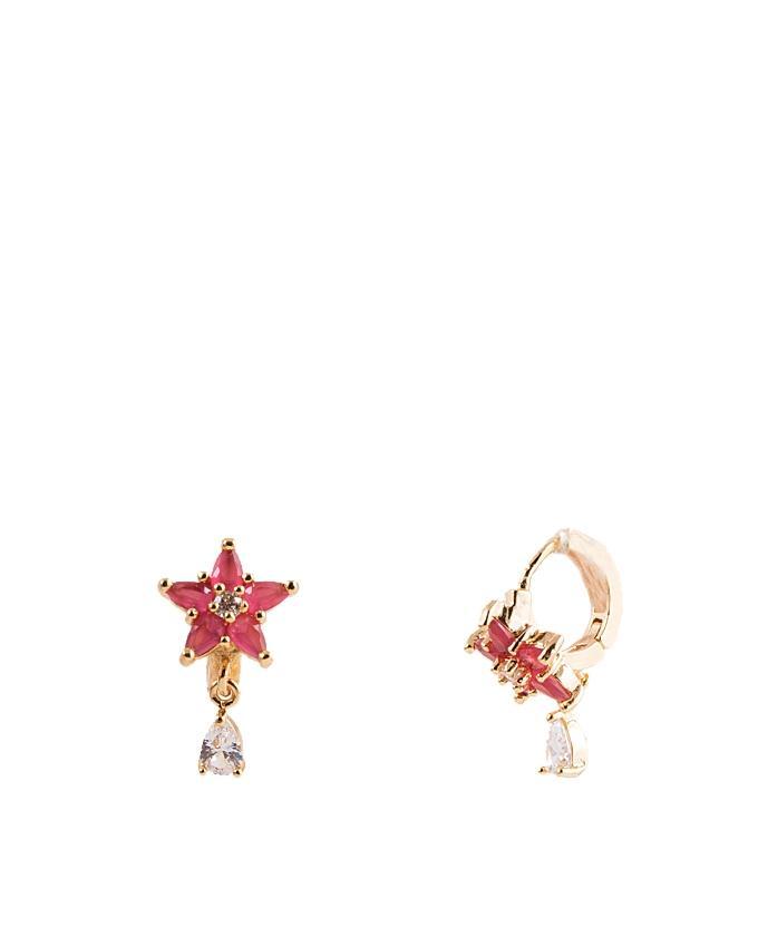 Golden Alloy Earrings for Women - ER-0053