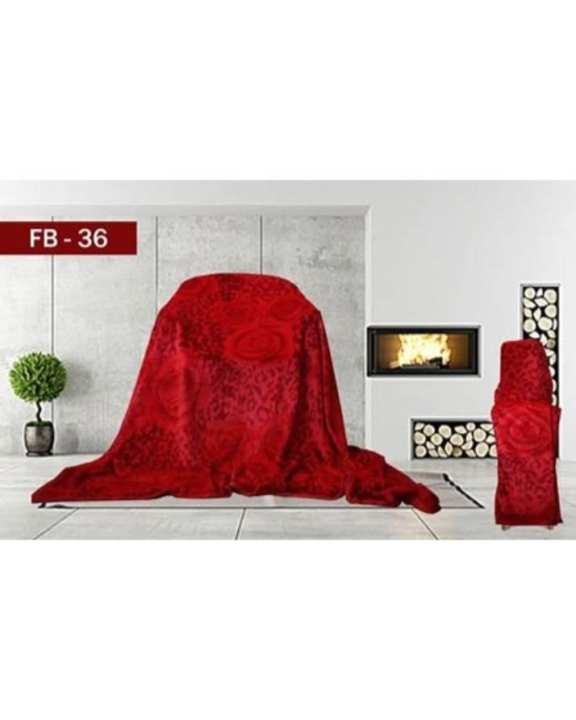 New Double Bed Blanket Red FB-36