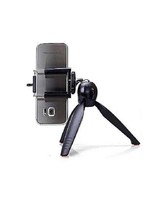 Mini Tripod Stand & Stabilizer Gimbal for Mobiles & DSLR Camera With Phone Holder Clip & Ball Head