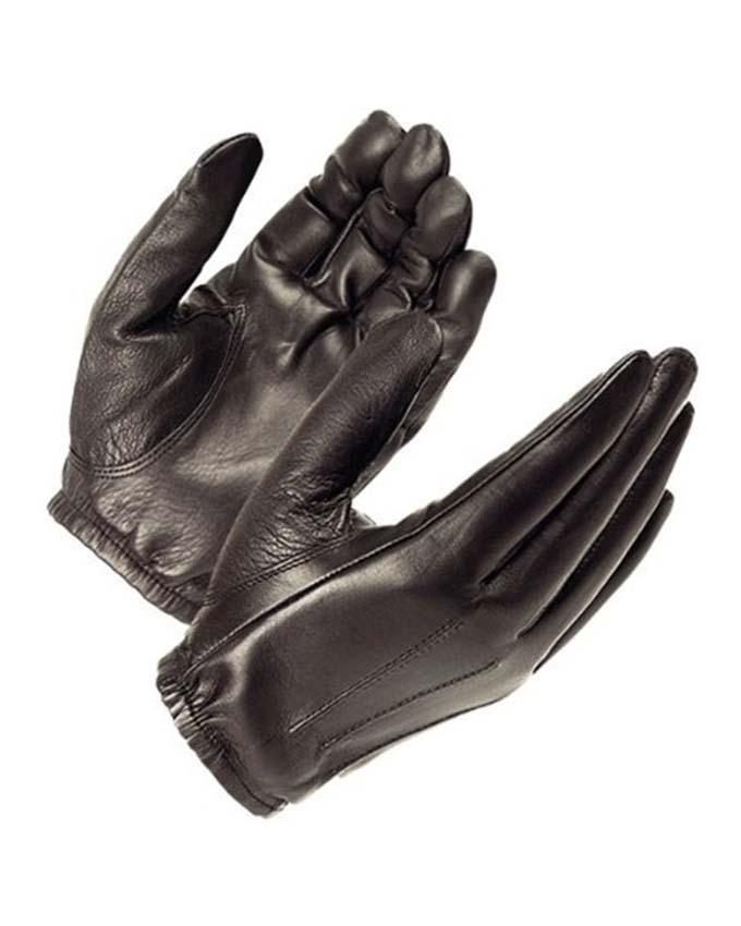 Black Leather Gloves For Uni