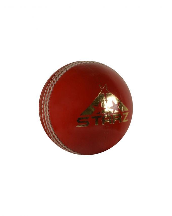 Premium Grade Leather Cricket Ball - Red