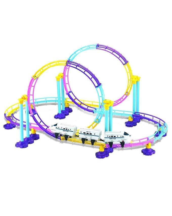 Electronic Roller Coaster Train - Multicolor