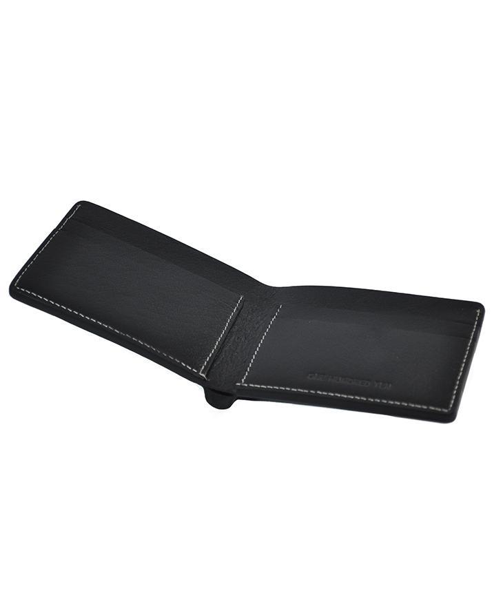 Black Leather Dollar Size Wallet for Men - LGW-33
