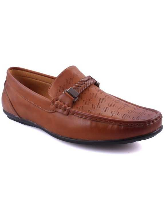 "Tan Men's ""LARS"" Smart Slip On Loafers Shoes-GS6034"