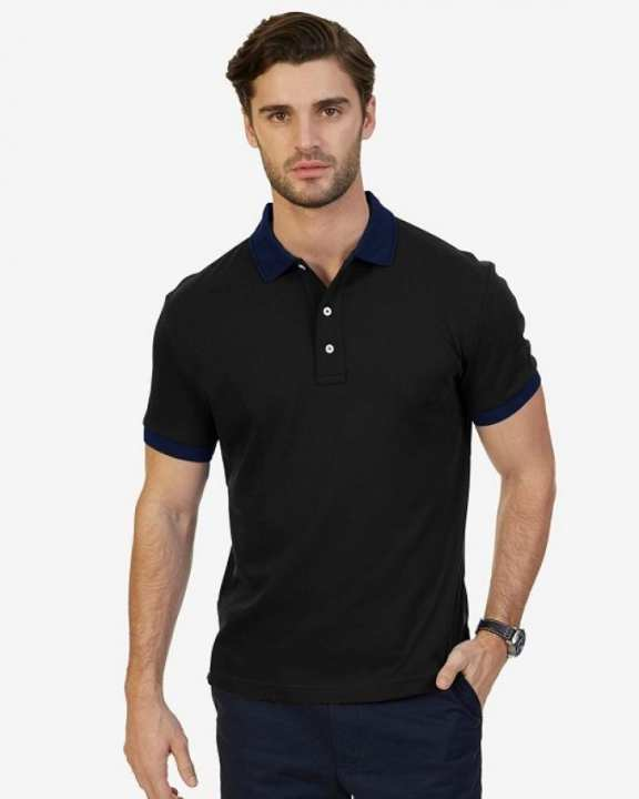 POLO REPUBLICA MEN CONTRAST COLLAR SHORT SLEEVE POLO SHIRT
