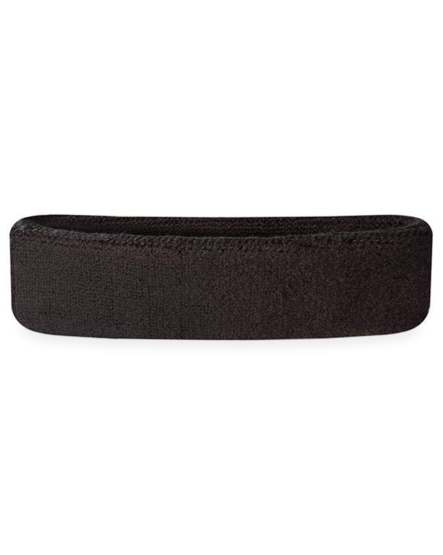 Headbands Tennis Running Unisex Athletic Basketball Head Gear - Black