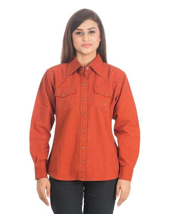 Rust Cotton Shirt for Women - DTM - VTS 02