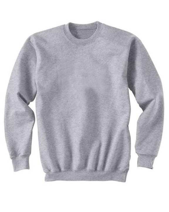Grey Plain Sweatshirt For Women - Gol-Gst-083-S