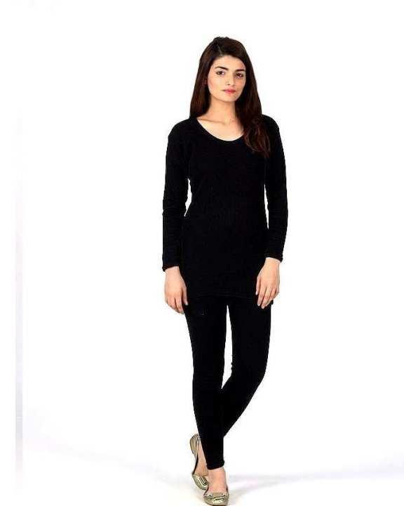 Black Women Inner Wear Thermal Sleepwear