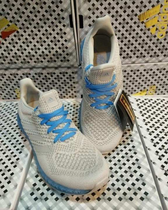 White And Sky Blue Canvas Style Sports Sneakers