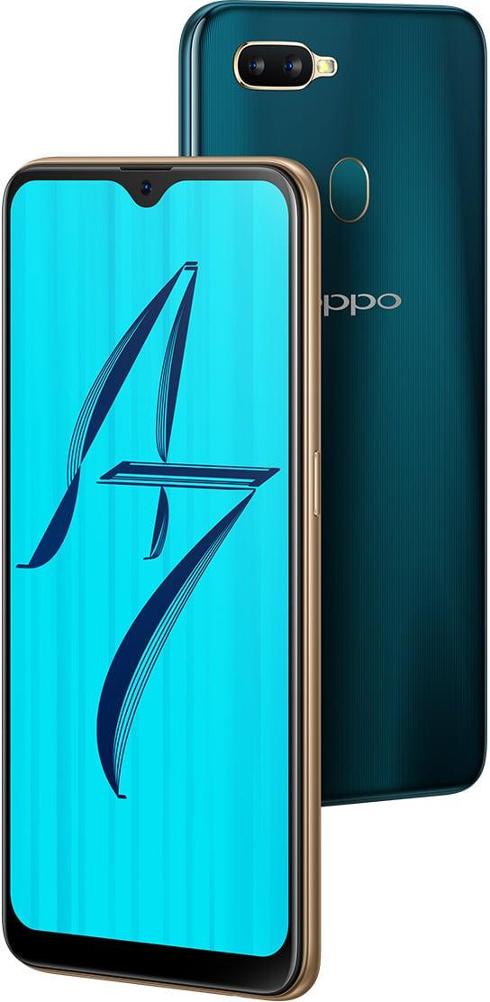 OPPO A7 - Waterdrop screen and 4230mAh battery smartphone