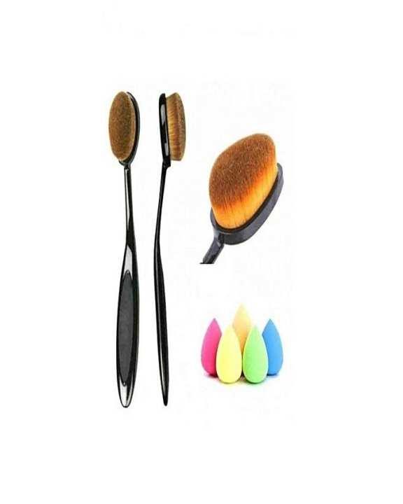 Pack Of 2 - Oval Brush With Beauty Blender Sponge