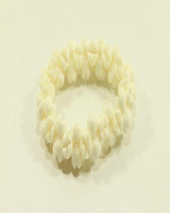 Camel Bone Craft Bracelets - 2pcs - White