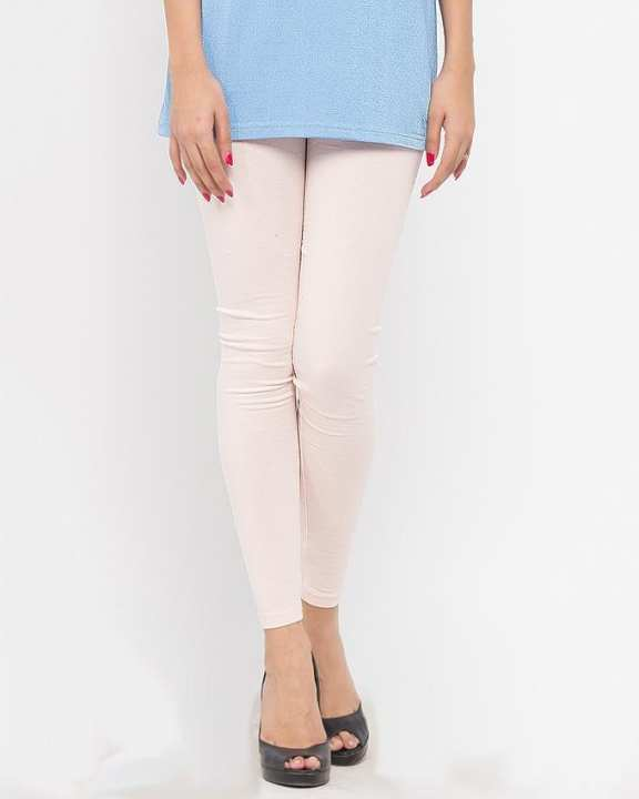 Baby Pink Cotton & Lycra Tights
