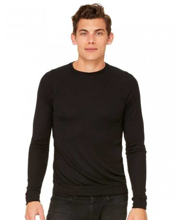 Black Cotton & Fleece Sweatshirt for Men