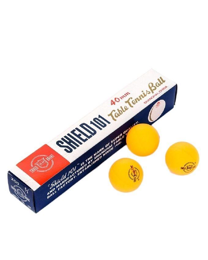 Pack of 6 - Shield Table Tennis Ball - Orange