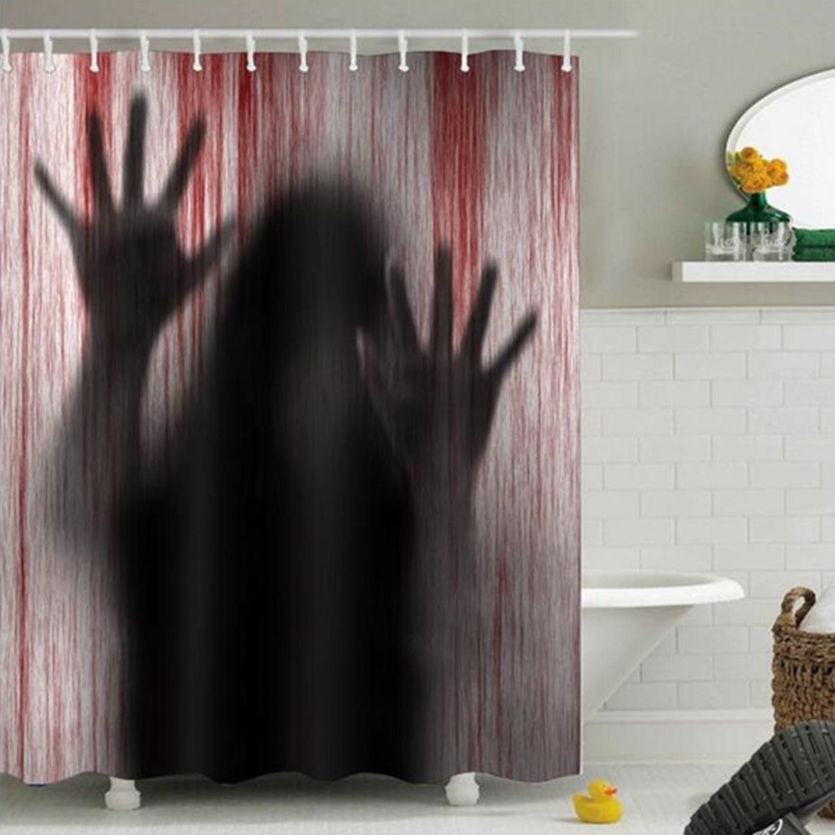 Halloween Horror Creepy Shower Curtain 3D Printed Bathroom