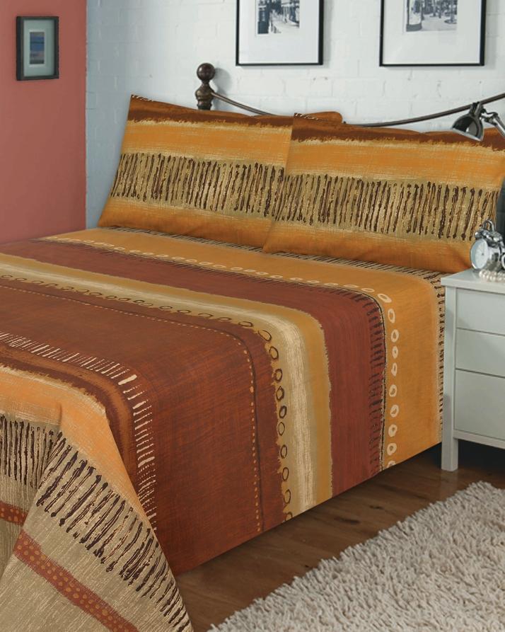 Golden Oak Single Bed Sheet Set With 1 Pillow Cover   2 Pcs