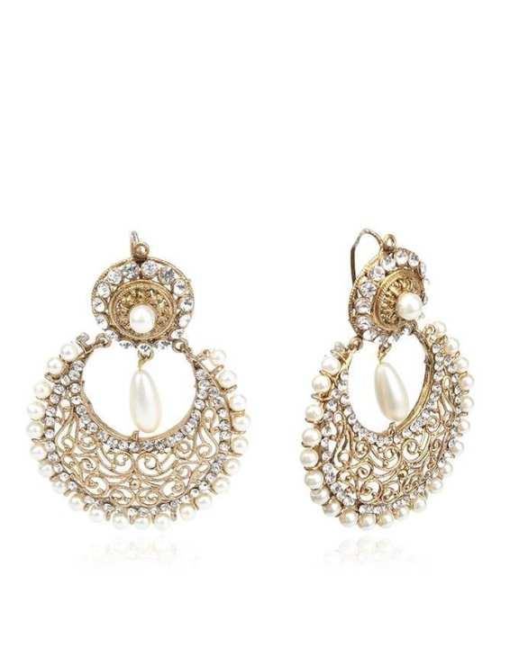 Golden Stylish Earings Jp-1348