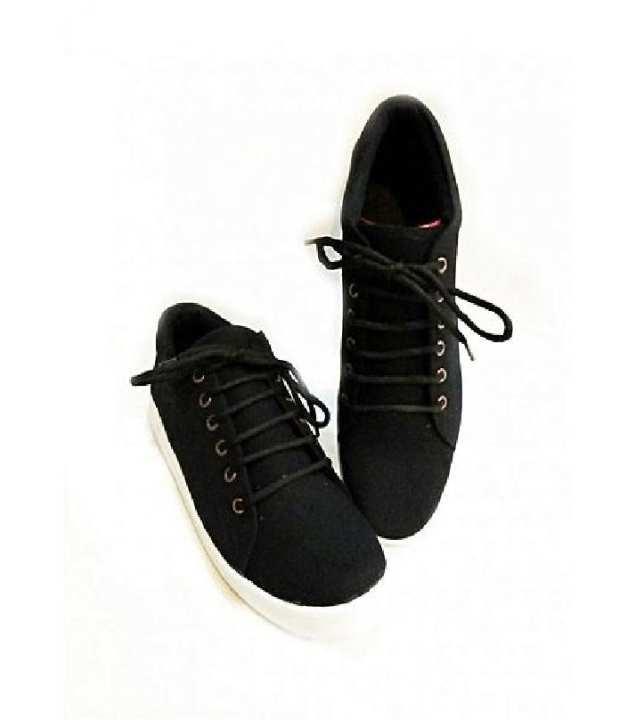 Black Stylish Canvas Sneakers- Unisex