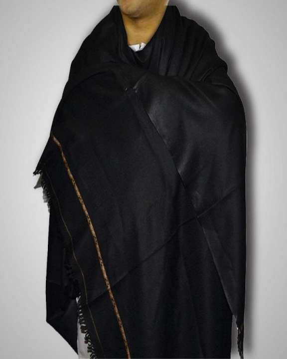 Black Wool Shawl For Men And Woman