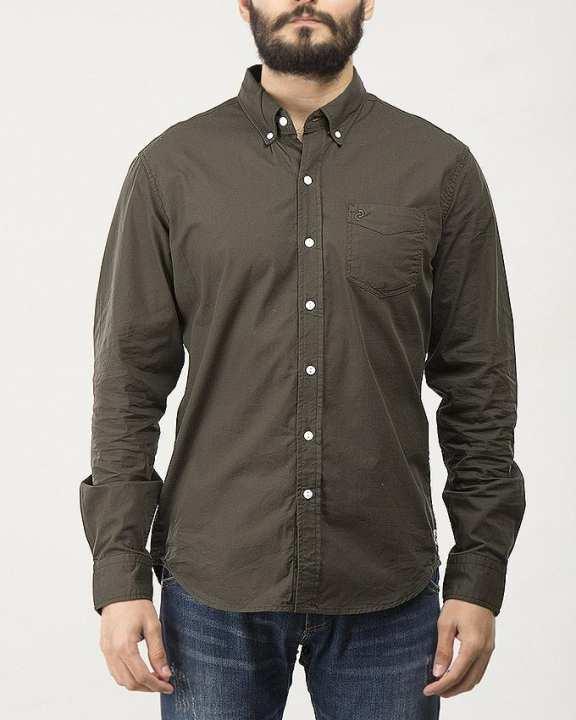Button Down Shirt For Men Greystone Heather X Special Online Price S