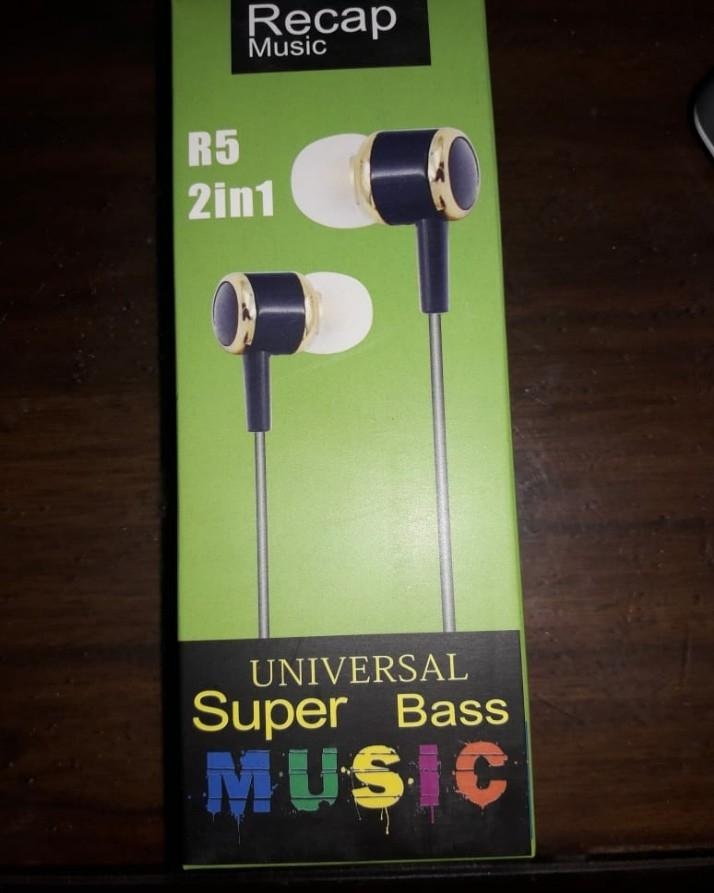 Hand Free Universal Super Bass HandFree Ear Phone HandsFree Superb Sound  Quality