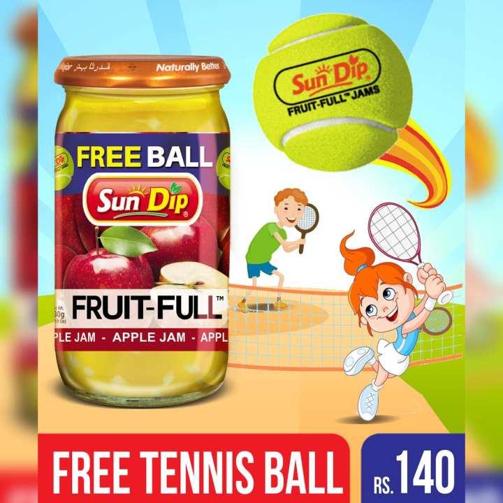 Apple Jam 430gm with Free Tennis Ball