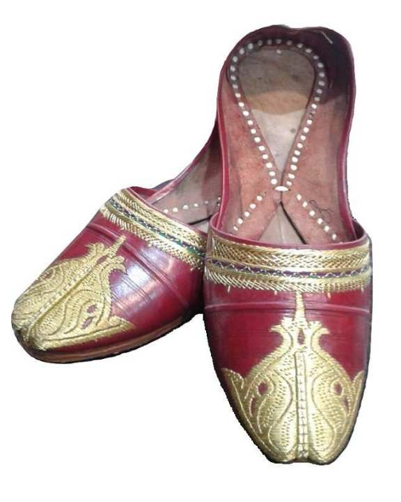 Pure Leather Khussa With Tilla For Men