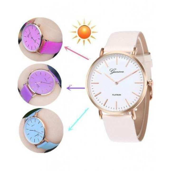 Uv Magic Colour Changing Analog Water Proof Wrist Watch For Men &  Women