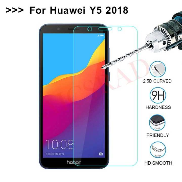 Transparent Tempered Glass for Huawei Y5 Prime 2018 100% touch sensiitivity_Scratch Proof - Shetter Proof
