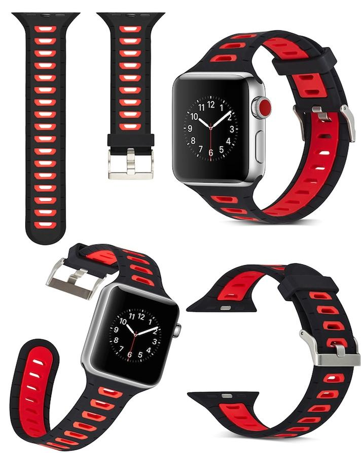 Apple watch Silicon double color strap for 42mm