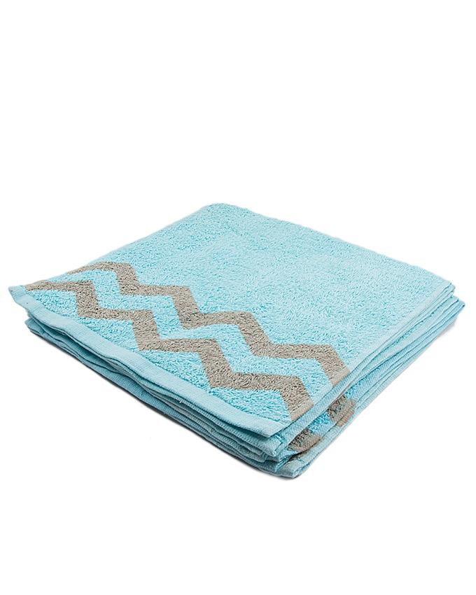 Zig Zag Hand Towel - Pack of 5 - 30x50 - Mint